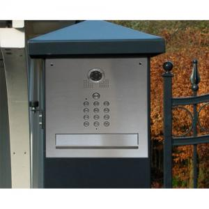 skrzynka pocztowa do wmurowania, skrzynka pocztowa przelotowa z kamerą
